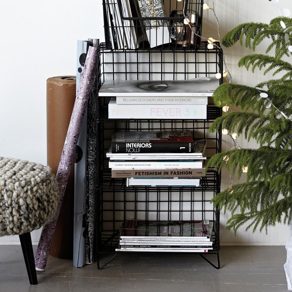 meuble de rangement m tal noir style industriel scandimagdeco. Black Bedroom Furniture Sets. Home Design Ideas