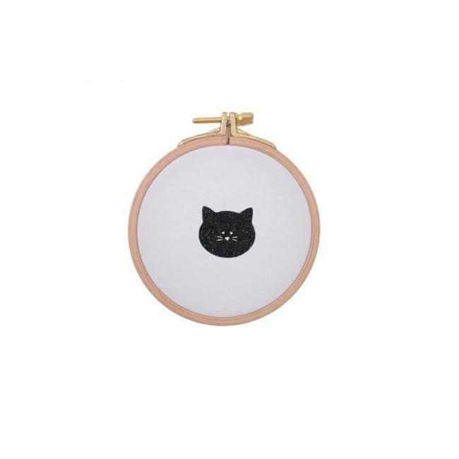 Cadre décoratif chat blanc et noir