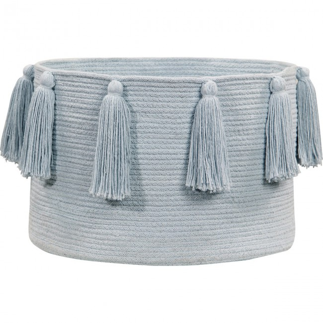 Panier Tassel bleu pastel