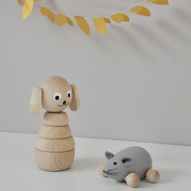 Jouet en bois à empiler - chien