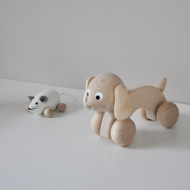 jouet en bois - chien