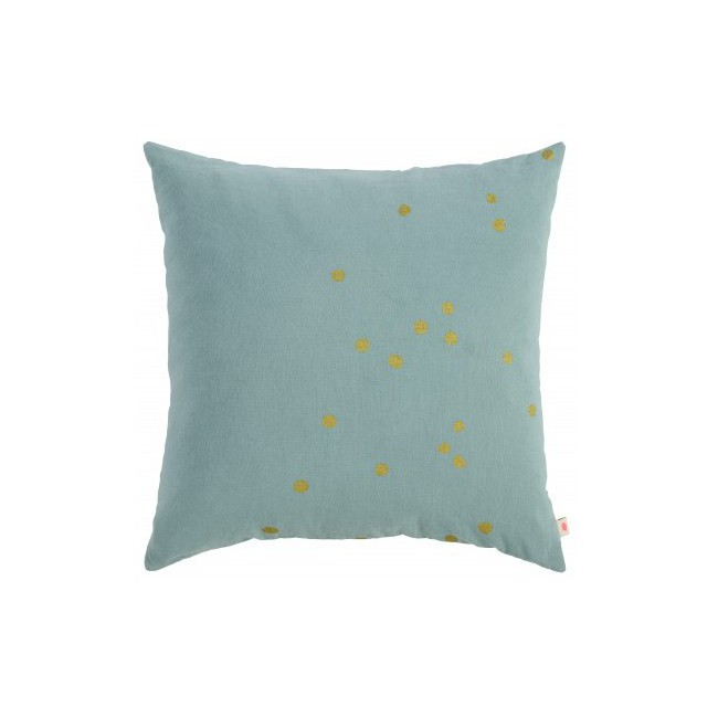 Housse de coussin Lina iode pois or