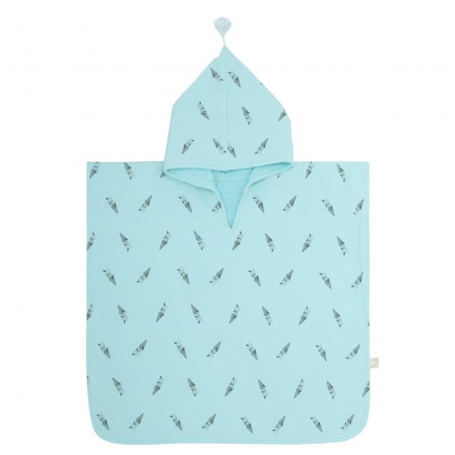 Poncho de bain Pepito - bleu aqua