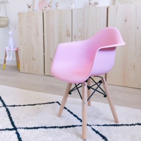 Chaise enfant style Daw Eames - rose