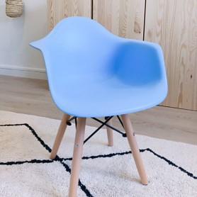 Chaise enfant style Daw Eames - Bleu