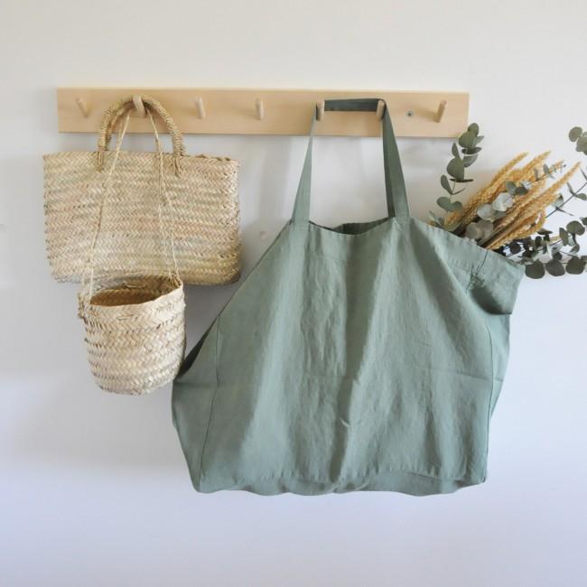Grand sac en lin lavé Jade