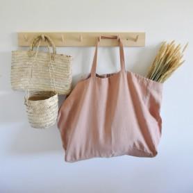 Grand sac en lin lavé moka