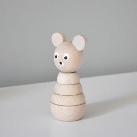 Jouet en bois à empiler - ourson