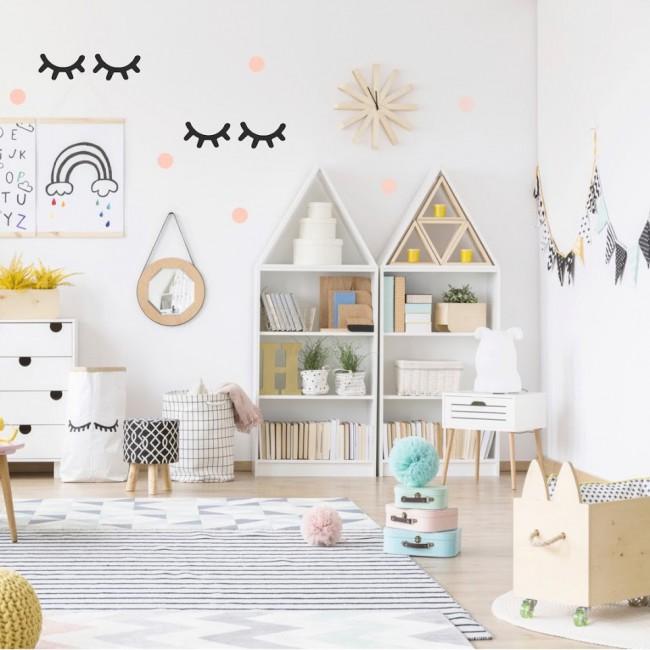 Stickers déco scandinave chambre d\'enfant