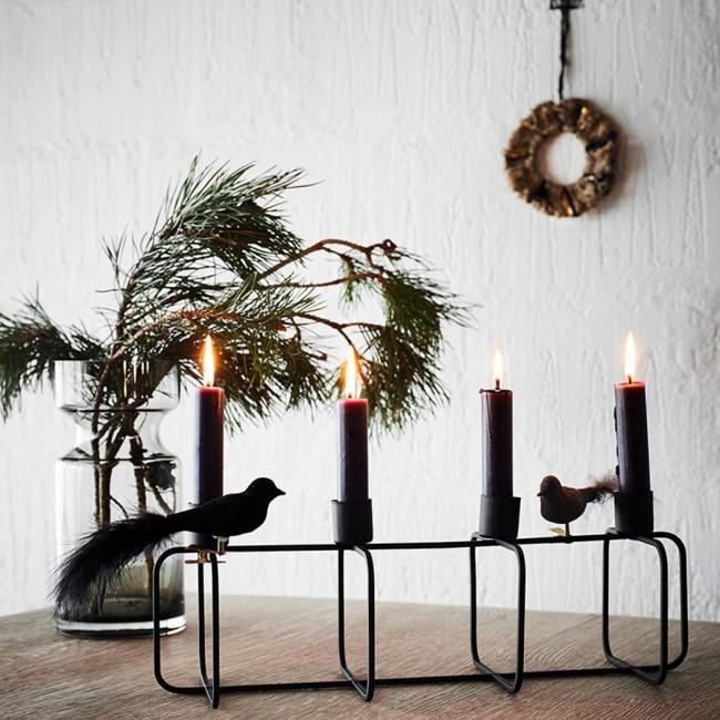 bougeoir décoratif en métal noir