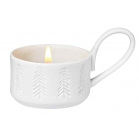 Bougeoir mini tasse chandelier sapin d'hiver