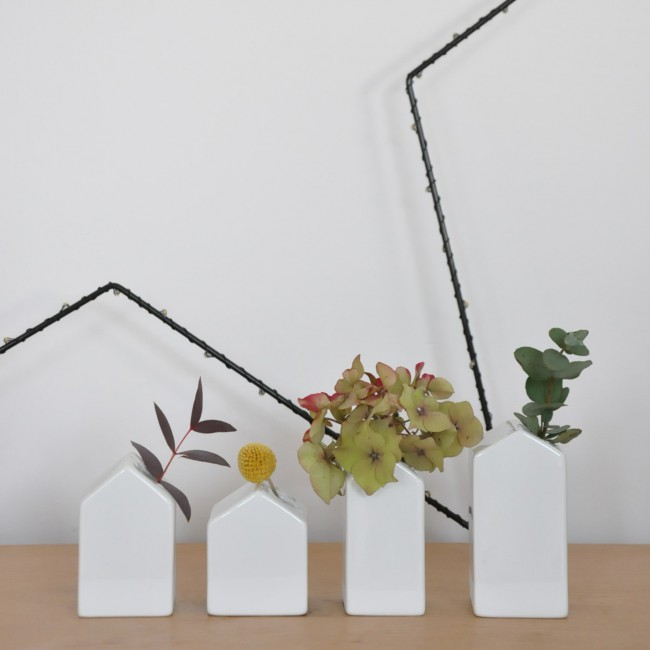 Vases soliflores petites maisons