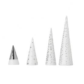 Petite forêt d'hiver en porcelaine argenté