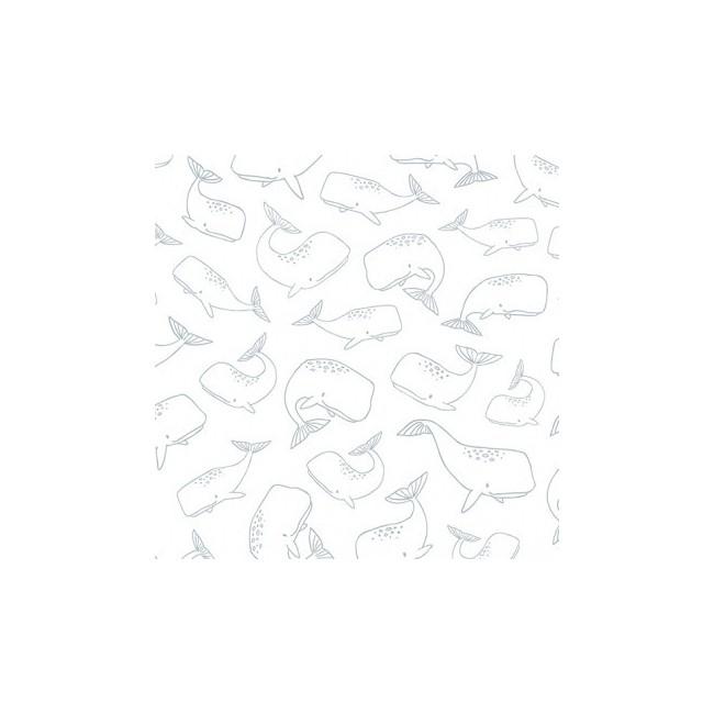 Papier peint enfant baleines