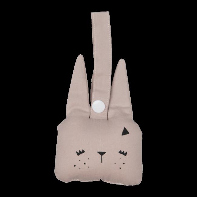 Hochet à suspendre Bunny rose - Fabelab