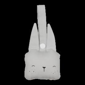 Hochet à suspendre lapin bleu gris - Fabelab