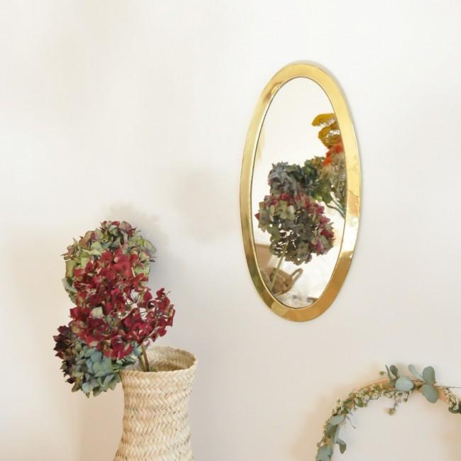 Miroir marocain ovale cadre laiton