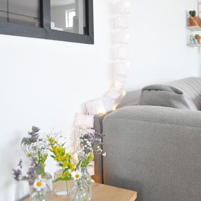 Guirlande lumineuse cubiste Tsé & Tsé blanche