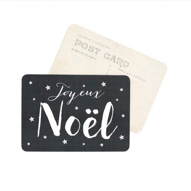 Carte postale - Joyeux Noël - Jane ardoise