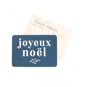 Carte postale - Joyeux Noël - Adèle bleu nuit