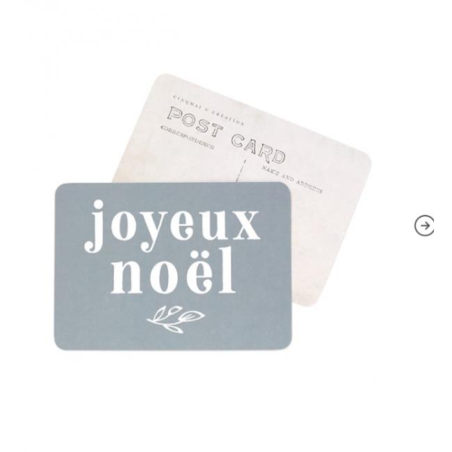 Carte postale - Joyeux Noël - Adele bleu stone