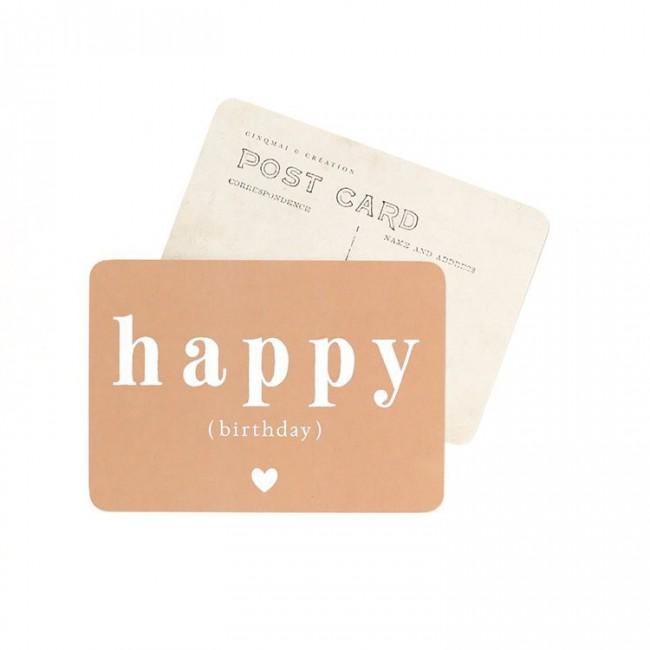 Carte postale Happy birthday - Adele rose automne
