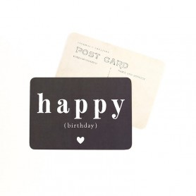 carte postale happy birthday - adele ardoise