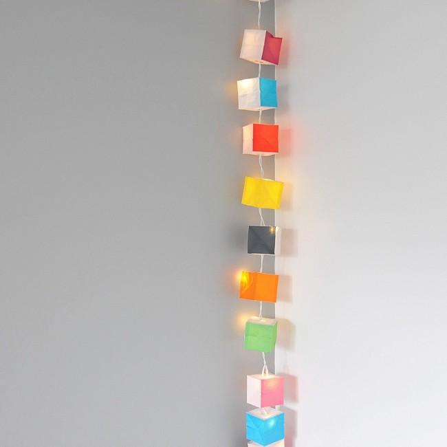 Guirlande lumineuse cubiste Tsé &Tsé multicolore