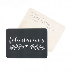 Carte postale - félicitations ardoise