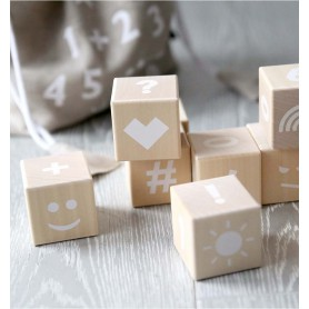 Cubes Maths Naturel / Blanc Ooh Noo