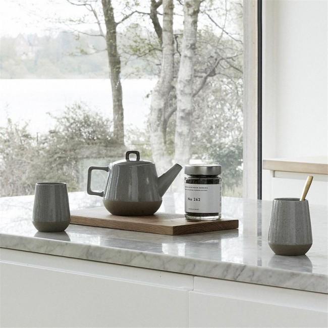 Théière et 4 tasses céramique Hübsch