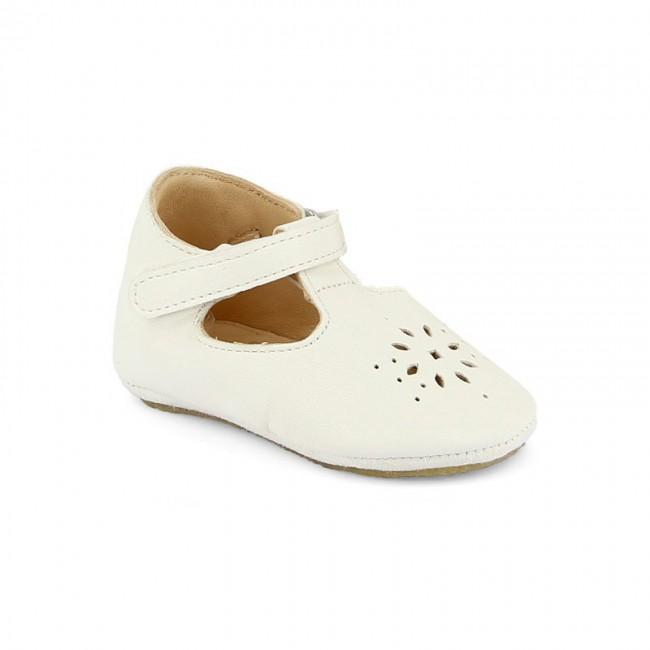 Chaussons bébé Salomé blanc crème