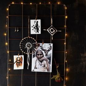 cadre mural avec crochets laiton