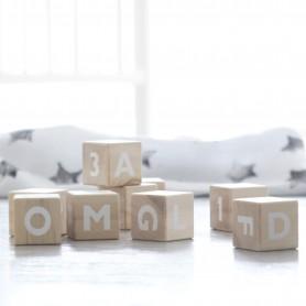 Cubes alphabet naturel / blanc Ooh Noo