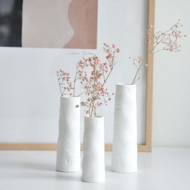 Set de 3 minis vases soliflore poésie Räder