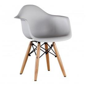Chaise enfant style Daw Eames - gris