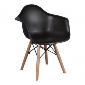 Chaise enfant style Daw Eames - Noir