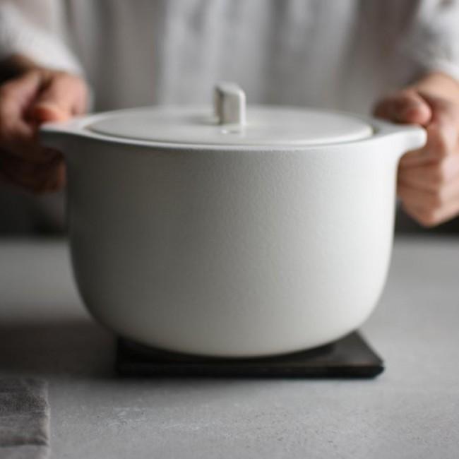 Cuiseur à riz Kakomi céramique blanc