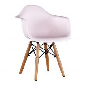 Chaise enfant style Daw Eames - Rose clair