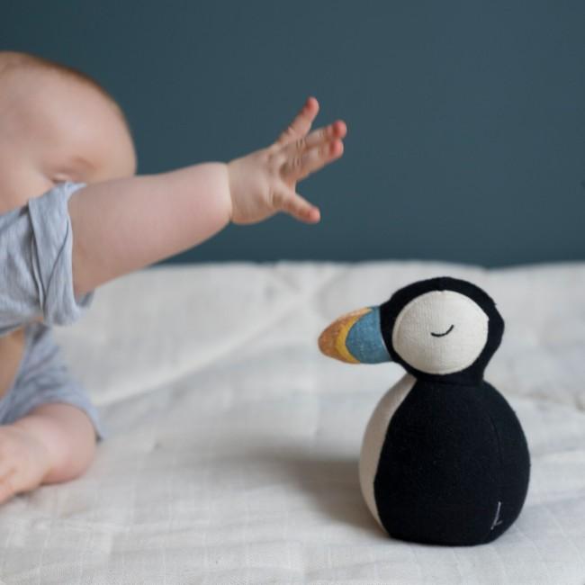 Jouet bébé Culbuto oiseau Macareux Fabelab
