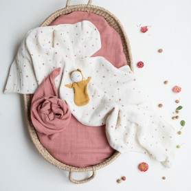 Set de 2 grands langes bébé Baies sauvages - Fabelab