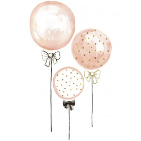 Sticker enfant Ballons roses