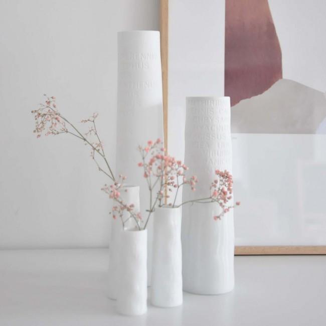 Vase soliflore porcelaine blanche Räder