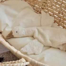 Doudou bouillotte oie blanche