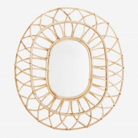 Miroir en bambou naturel Ovale