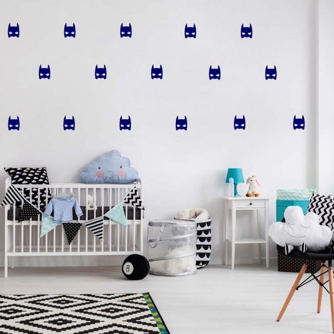 Sticker enfant super héros bleu
