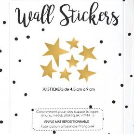 Stickers enfant irrégulières - Etoiles - Doré