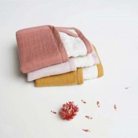 Lingette bébé lavable coton bio set de 3 Rose