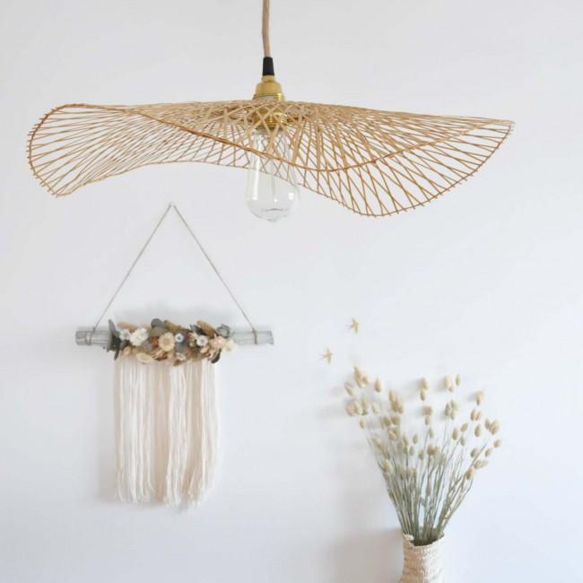 Abat-jour en bambou Libellule - 75 cm