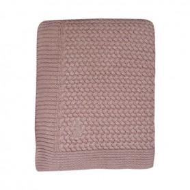 Couverture bébé en coton tout doux rose